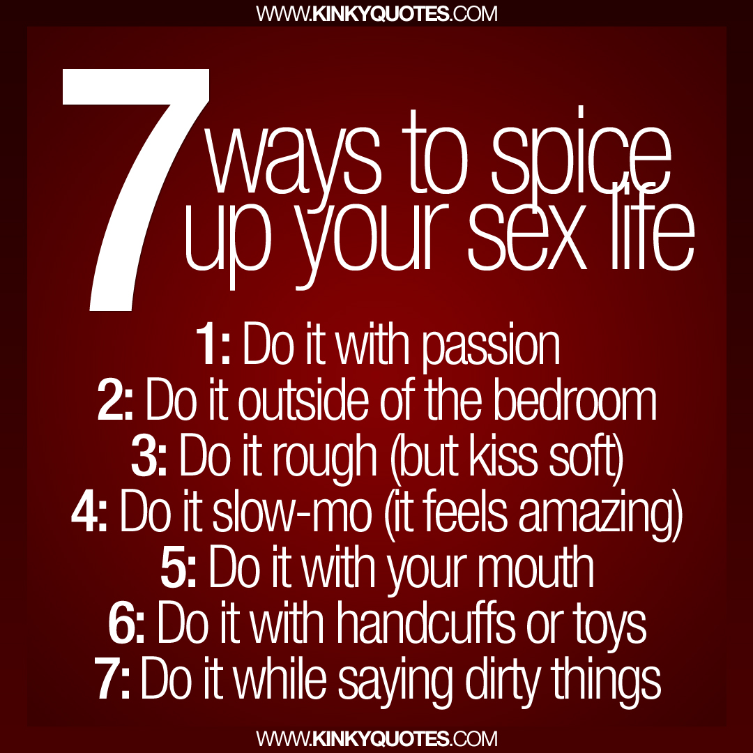 Kinky ways to spice up relationship