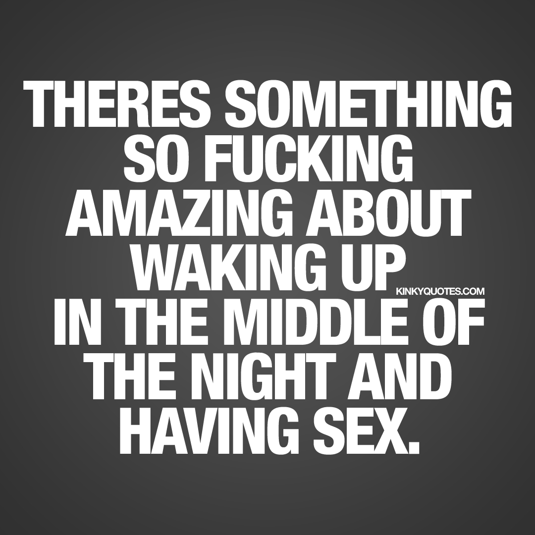 Waking up feeling urge for sex