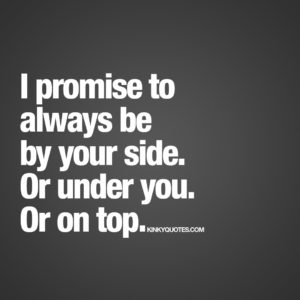 I promise to always be by your side
