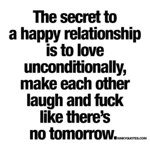 The secret to a happy relationship