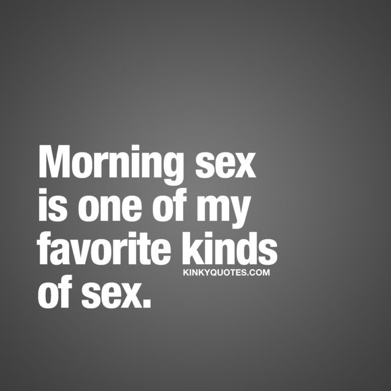 Morning sex is one of my favorite kinds of sex.
