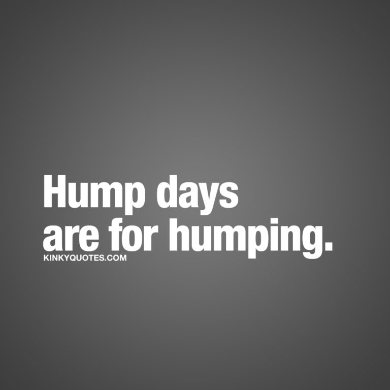 Hump days are for humping ❤