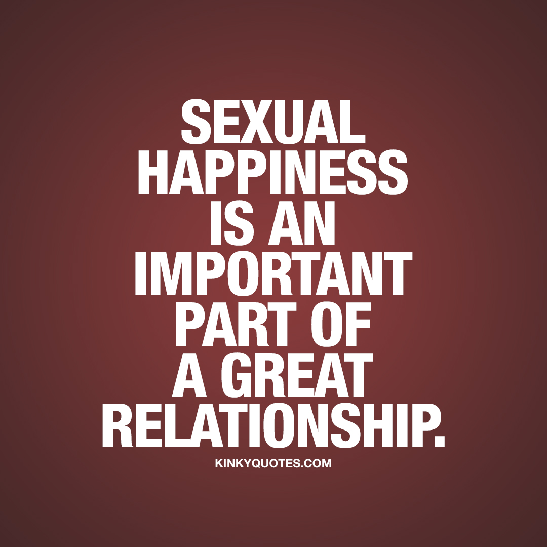Sexual happiness is an important part of a great relationship.